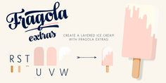 Fragola Font: Fragola is a bold and groovy script family with plenty of OpenType features and extra swashes. Combine Swash, Stylistic or Titling Alterna. Bold Italic, Font Family, Glyphs, Spice Things Up, Fonts, Typography, Place Card Holders, Desktop, Create