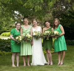 54 Cool Mismatched Bridesmaids' Dresses | HappyWedd.com