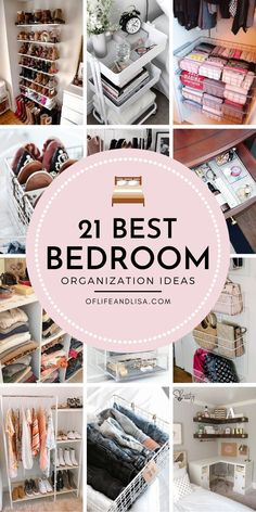 21 Stylish Bedroom Organization Ideas It can be frustrating trying to find space to organize a tiny bedroom especially if… Small Bedroom Organization, Home Organization Hacks, Organizing Your Home, Organized Bedroom, Kitchen Organization, Organizing Ideas, Bedroom Storage Hacks, Bedroom Storage Ideas For Small Spaces, Small Bedroom Hacks