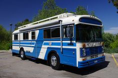 Blue bird vintage big ol' motorhome.   1978 Bluebird Wanderlodge.  And it's all ours!!