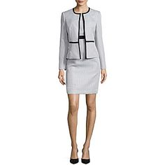 aa57ea6286653 Black Label by Evan-Picone Contrast Framed Jacket or Contrast Sheath Dress  - JCPenney