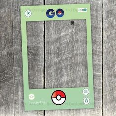 Pokemon Go Frame, Party Photo Booth Prop with Pokeballs, DIY Frame Cut Out, Social Media, App, Printable (Digital File)