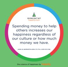 Spending Money on Others Helps Ourselves
