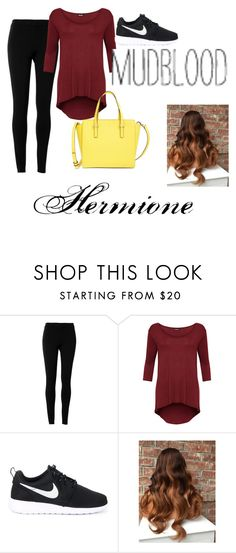 """Hermione Granger inspired"" by rylee-elizabeth ❤ liked on Polyvore featuring Max Studio, WearAll, NIKE, Kate Spade and plus size clothing"