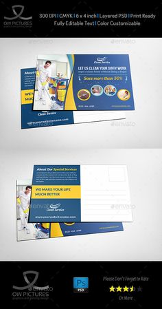 Cleaning Services Postcard Template — Photoshop PSD #design flyer #flyer design • Available here → https://graphicriver.net/item/cleaning-services-postcard-template/11530154?ref=pxcr