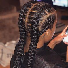 85 Box Braids Hairstyles for Black Women - Hairstyles Trends Braided Hairstyles For Black Women Cornrows, Two Braid Hairstyles, African Braids Hairstyles, Braids For Black Hair, Black Hairstyles, Fine Hairstyles, School Hairstyles, Summer Hairstyles, Hairstyles 2016