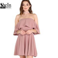Aliexpress.com : Buy SheIn Autumn Dress Womens Sexy Party Night Club Dress Short Sleeve Women Fall Dresses 2016 Off The Shoulder Skater Dress from Reliable club dress suppliers on SheIn Official Store