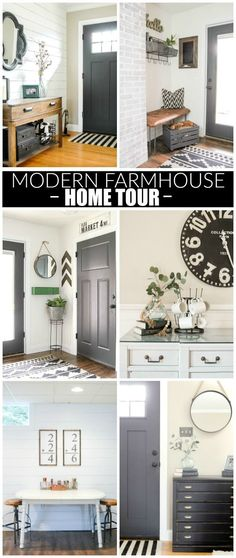 TOUR Modern industrial farmhouse home tour. Modern industrial farmhouse home tour. Area Industrial, Industrial Farmhouse Decor, Industrial Bedroom, Industrial House, Industrial Interiors, Industrial Bookshelf, Industrial Closet, Kitchen Industrial, Industrial Apartment