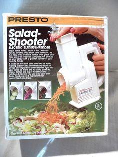 Presto Salad Shooter 02910 Electric Slicer Shredder Original Box 1988 #Presto
