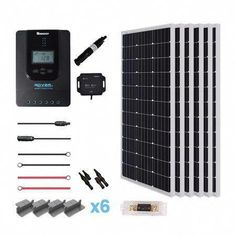 Renogy 600 Watt 24 Volt Solar Premium Kit with Monocrystalline Solar Panel and 40A Mppt Rover Controller #solarpanels,solarenergy,solarpower,solargenerator,solarpanelkits,solarwaterheater,solarshingles,solarcell,solarpowersystem,solarpanelinstallation,solarsolutions Solar Energy Panels, Best Solar Panels, Solar Panel Kits, Off Grid Solar, Solar Roof, Solar Projects, Energy Projects, Solar House, Solar Panel Installation