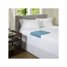 ComforPedic Beautyrest 4 1/2-in. Gel Memory Foam Mattress Topper, Blue