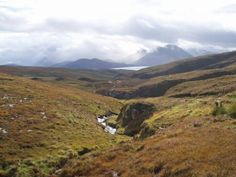 The view coming down from Dun Caan in Raasay - view is over the sea to Skye (with my son Kyle in the foreground)