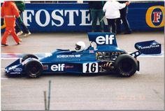 La Tyrrell Ford 007 di Scheckter del 1975. a Silverstone