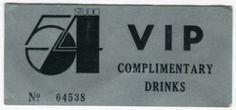 Studio54 drink ticket