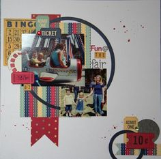 Fun @ the Fair Layout by Sally Cranney using the 3SB June Main Kit featuring Bo Bunny Modern Miss