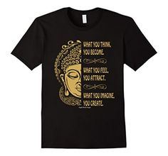 Men's ATTRACT CREATE Inspirational Motivational Quote T-Shirt 2XL Black - Brought to you by Avarsha.com