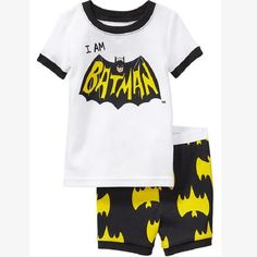 9ef3bbfcc0 Hooyi White Batman Boys Pajamas Clothes Sets 2017 Kids Sport Suit Cotton  Children T Shirt Short Pants Bottom Clothing Girl Tees-in Clothing Sets  from Mother ...
