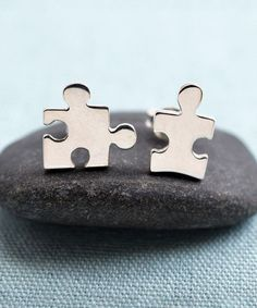 Look at this Lily Charmed Sterling Silver Jigsaw Stud Earrings on today! Stay Classy, Puzzle Pieces, Vintage Rings, Discount Designer, Girly Things, Jewelry Accessories, Lily, Stud Earrings, Sterling Silver