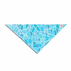 "afe images ""Abstract Mosaic Pattern"" Blue Pastel Illustration Pet Bandana from KESS InHouse. Pet Bandana Details: Printed on one side. Made of polyester. Machine Washable: Gentle Cycle, Line Dry. Printed in the USA"