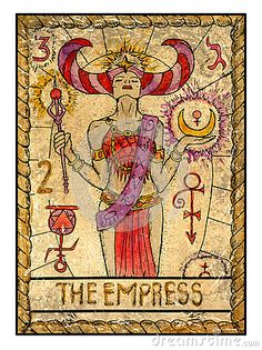 Old tarot cards. Full deck. The Empress