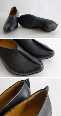 A plane of leather creates a straight line from the toe to the heel. This slip on shoe has deep V that is incredibly flattering. Like an architectual shadow, Gene is best in all black. Seasonless style, wear against bare skin or with a coloured sock to highlight these unique Tracey Neuls design lines. shop the style at: http://www.traceyneuls.com/shop/women/gene.html