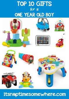 If you are looking for a great gift, these are our top 10 gifts for a one year old boy. All of these toys have been tested by our son the toy connoisseur. For Boys First Birthday Presents, Birthday Gifts For Boys, Boy First Birthday, First Birthdays, Gifts For Kids, Birthday Ideas, Happy Birthday, Toddler Toys, Baby Toys