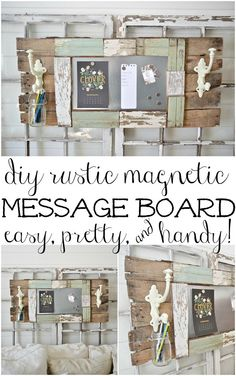 Magnetic Message Board (from Liz Marie Blog)