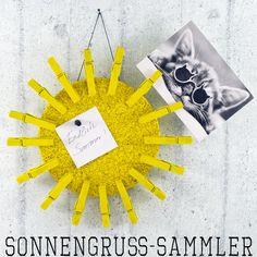 DIY Sommergrußkarten-Klemmen-Sonne