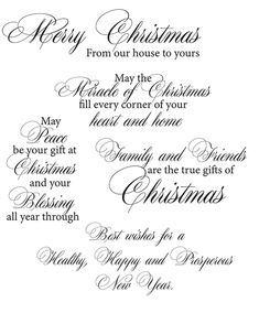 Rubber Stamps - Holidays - Page 3 - Technique Junkies Christmas Greeting Card Messages, Christmas Card Verses, Greeting Card Sentiments, Christmas Sentiments, Les Sentiments, Christmas Quotes, Christmas Cards, Christmas Greetings For Family, Christmas Card Wording