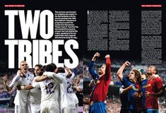 Double Page Spread I think this double page spread is quite unique. The title fills the top two thirds of both double pages, which help. Media Studies, Sports Magazine, Magazine Spreads, Publication Design, Magazine Articles, Page Layout, Magazine Design, Mood Boards, Brand Identity