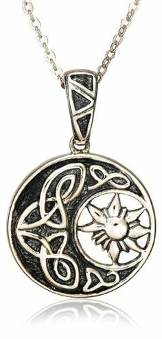 "Sterling Silver Round Celtic Pendant Necklace , 18.5"" Amazon Curated Collection, http://www.amazon.com/dp/B0029ZAQGW/ref=cm_sw_r_pi_dp_Bplhrb1KBDKKS"