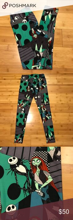 NWOT LuLaRoe NBC Jack and Sally Leggings 🦄 NWOT LLR NBC Jack and Sally Leggings. LuLaRoe Nightmare Before Christmas Leggings. Brand new - just lost the tag; these have never been worn. Smoke Free Home. No trades. LuLaRoe Pants Leggings