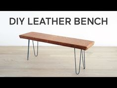 Dwell Made Presents: DIY Leather Bench - Dwell