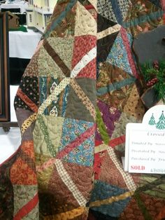 I like this easy calico quilt.