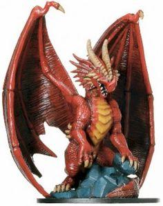 D&D Miniatures GOL 71/72 Huge Red Dragon R