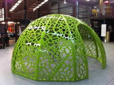 As adults we need to remember we ARE part of a world of many creatures that live together in the world we create. The Leaf Skeleton dome represents a meeting place for our community. A safe and imaginative place for children and a meeting place for a solid, intertwined and supportive community.""