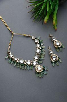 Silver jewelry Videos Making - Silver jewelry Design Jewellery - - - Silver jewelry Set Bridesmaid Gifts Indian Jewelry Earrings, Indian Jewelry Sets, Indian Wedding Jewelry, Emerald Jewelry, Bridal Jewelry, Gold Jewelry, Gold Necklace, Indian Necklace, Bead Jewellery