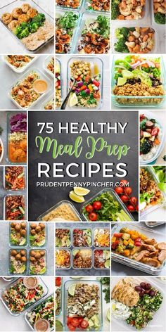 Eat nutritiously with these healthy meal prep recipes for the week. From chicken bowls to stir fry recipes, there are plenty of easy and healthy recipes for lunch or dinner. Veggie Meal Prep, Meal Prep Bowls, Healthy Meal Prep, Easy Healthy Recipes, Healthy Cooking, Lunch Recipes, Easy Meals, Healthy Eating, Food Prep