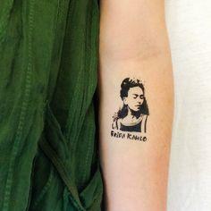Items similar to 2 Frida Kahlo Temporary Tattoos- GeekTat on Etsy Body Art Tattoos, New Tattoos, Small Tattoos, Cool Tattoos, Tatoos, Tattoo Art, Frida Tattoo, Frida Kahlo Tattoos, Temp Tattoo