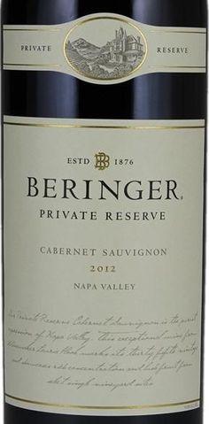 2012 Beringer Vineyards Cabernet Sauvignon Private Reserve