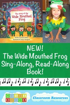 Wide Mouthed Frog Sing-Along, Read-Along Picture book!