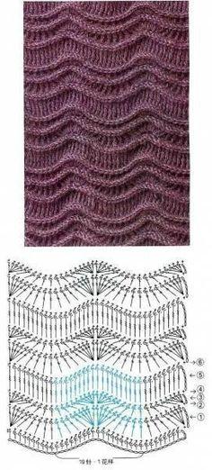 Вязание Узоры крючком