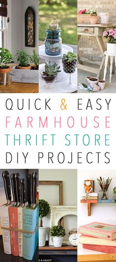 Quick and Easy Farmhouse Thrift Store DIY Projects - The Cottage Market