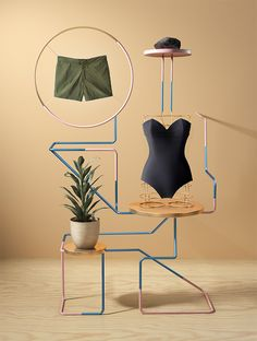 high end styling with greens