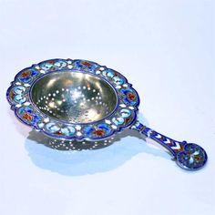 Norwegian Enamel Teastrainer Tea Strainer, Tea Infuser, Tea Cozy, Cozies, Teacups, Drinking Tea, Spoons, Kitchen Accessories, Antique Silver