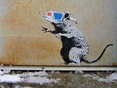PingoWorld Glasses Rat' by Banksy Framed Graphic Art Size: Banksy Graffiti, Banksy Rat, Banksy Artwork, Street Art Banksy, Bansky, 3d Canvas Art, Banksy Canvas Prints, Pop Art, Zine