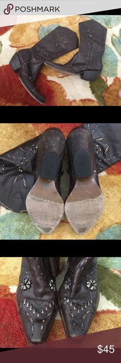 BCBG Girls cowboy boots size 8 Wore to three concerts. Good shape!  Toes are a little scuffed. See pics!! Shoes