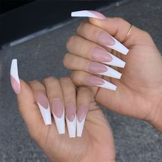 Amazing Long Coffin Nails Ideas 2019 Amazing Long Coffin Nails Ideas 2019 40 White Acrylic Nails to Try This Year White Tip Acrylic Nails, Acrylic Nails Natural, Marble Nails, Perfect Nails, Gorgeous Nails, Pretty Nails, Amazing Nails, Long French Tip Nails, French Stiletto Nails