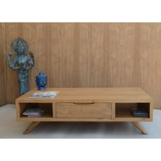 Table basse Table Basse Fiftees 120 cm Teck http://www.maginea.com/fiche/P201411180091.html
