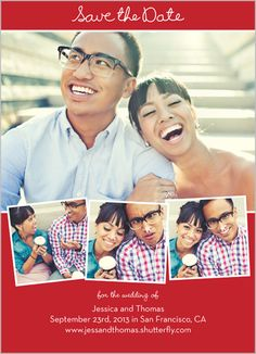 Love Filmstrip Save The Date